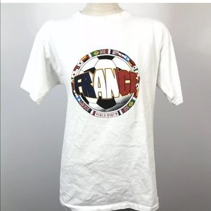Vintage Soccer Tee World Cup France 98 Classic